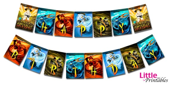 INSTANT DOWNLOAD Ninjago Happy Birthday Banner