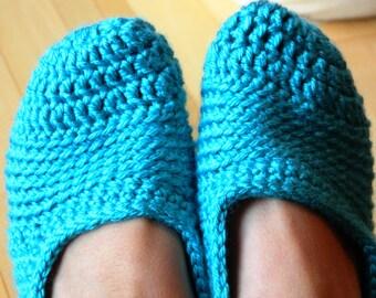 Instant download - PDF crochet pattern - Women crochet slipper # 23