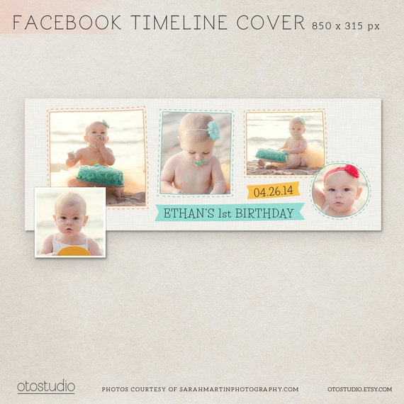 First Birthday Facebook Timeline Cover Psd Template