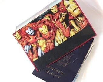 Ironman Avengers Tony Stark Comic Passport Holder Assorted Styles