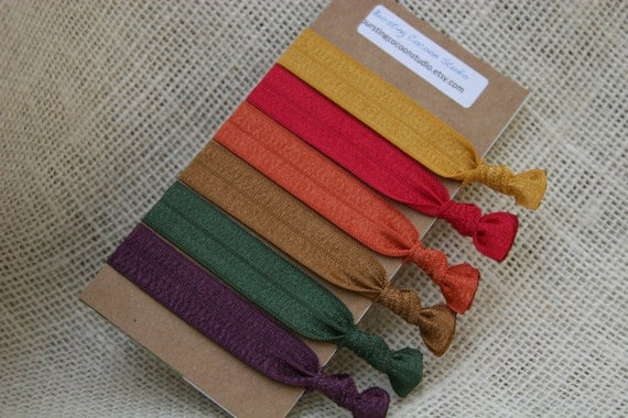 Awesome Items Similar To Fall Hair Ties, 6 Harvest Hair Ties, Fall Color Elastic  Pony