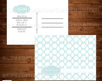 Thank You Photography Boutique Small Business Marketing Template PSD Branding Postcard