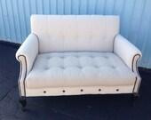 Items Similar To Gorgeous Custom Upholstered Settee