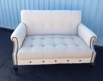 Gorgeous Custom Upholstered Settee Loveseat