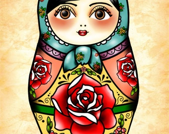 Matryoshka Illustration Print