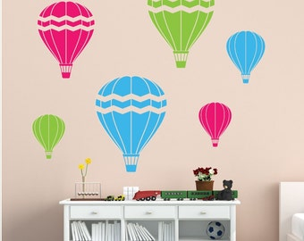 Hot Air Balloons Wall Decal   Playroom Wall Decals   Childrens Wall Decals    Vinyl Wall