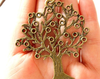 Bronze Tree Pendant Necklace