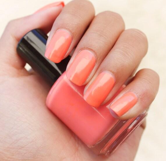 Orange Nail Polish Custom Nail Polish Pastel Orange Nail