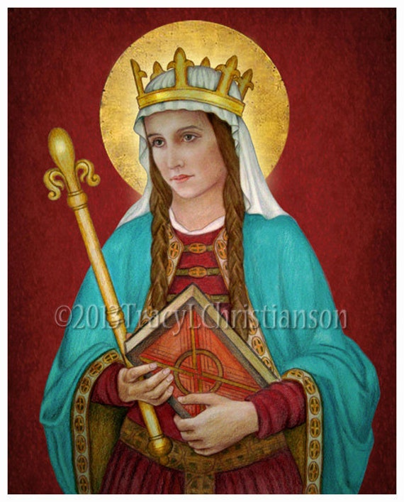 St. Margaret of Scotland Art Print Catholic Patron Saint ...