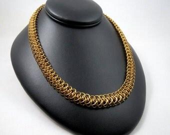 Brass Statement Chain Necklace, Men's or Women's