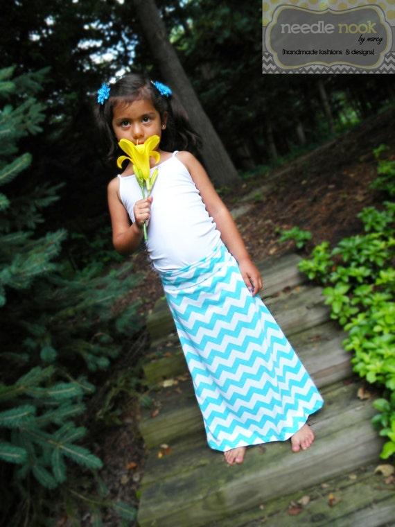 Like this item? - The Child Chevron Maxi Skirt Girl's Maxi Skirt