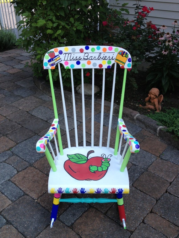 Handpainted Custom Teacher Chair - Your Chair My Customized Paint Job ...