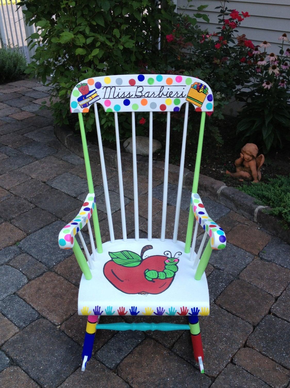 Handpainted Custom Teacher Chair Your Chair My Customized