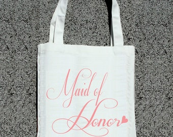 Maid of Honor Fancy Tote- Wedding Tote Bags