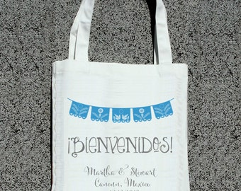 Bienvenidos Welcome Destination Wedding Tote- Wedding Welcome Tote Bag