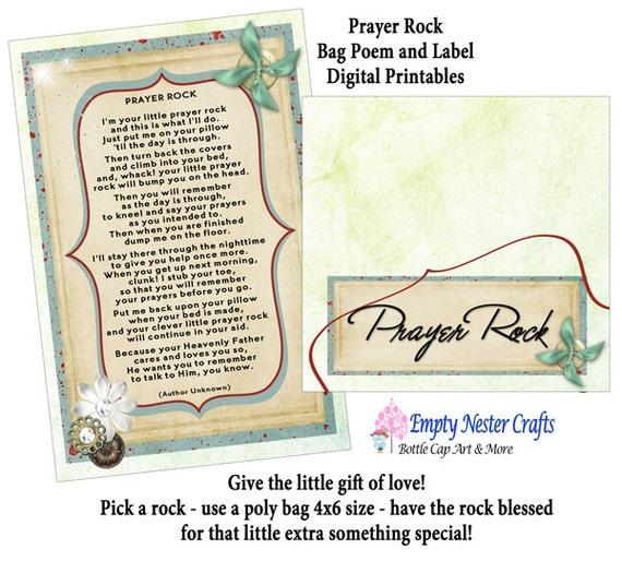 Crafty image with regard to prayer rock poem printable