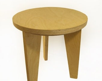 Slot & Lock Side Table_Natural Finish