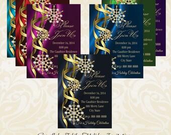 Snowflake Jubilee Holiday Invitation