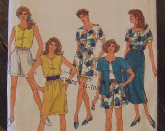 Simplicity 7888 Size HH (6-12) Misses Skirt Shorts and Top UNCUT pattern