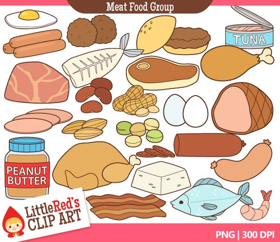Meat and Alternatives Food Group Clip Art and Lineart ...