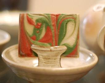 Apple Jack Soap AND Handmade Clay Soap Dish