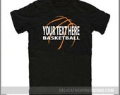 Personalized Basketball Iron-On Vinyl Shirt Decal, by Delicate Expressions