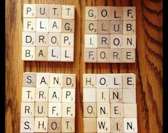 golf office decor. golf drink coasters made to order golfer gift golfing decor golf office