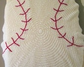 Baby Baseball Blanket, Toddler Blanket, Crib Blanket, Baby Shower Gift