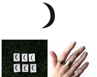 Crescent - Temporary Tattoo (Set of 6)
