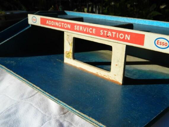 vintage esso addington service station wooden toy garage from. Black Bedroom Furniture Sets. Home Design Ideas
