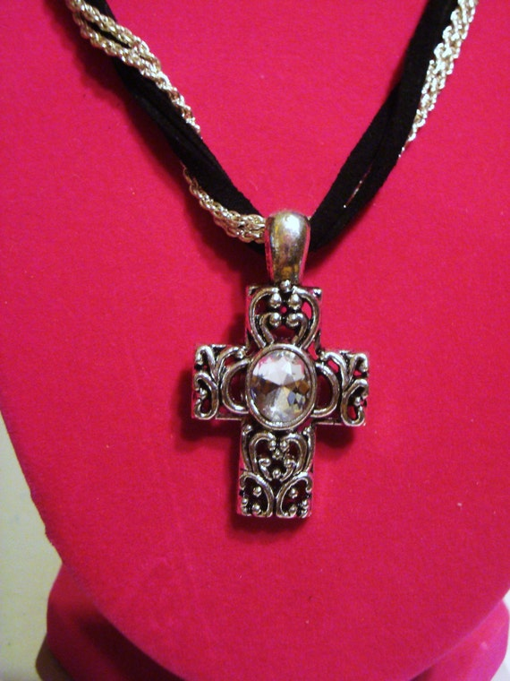 Large Celtic Claddagh Cross Necklace - Sterling Silver - Claddagh PendantMaterials: Claddagh Cross pendant and chain are made of genuine Sterling Silver. This is a large and detailed necklace.