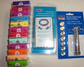 NIP Amaco Tri-Bead Roller, ArtMinds Extruder Clay Gun and 12 bars of Fimo Clay