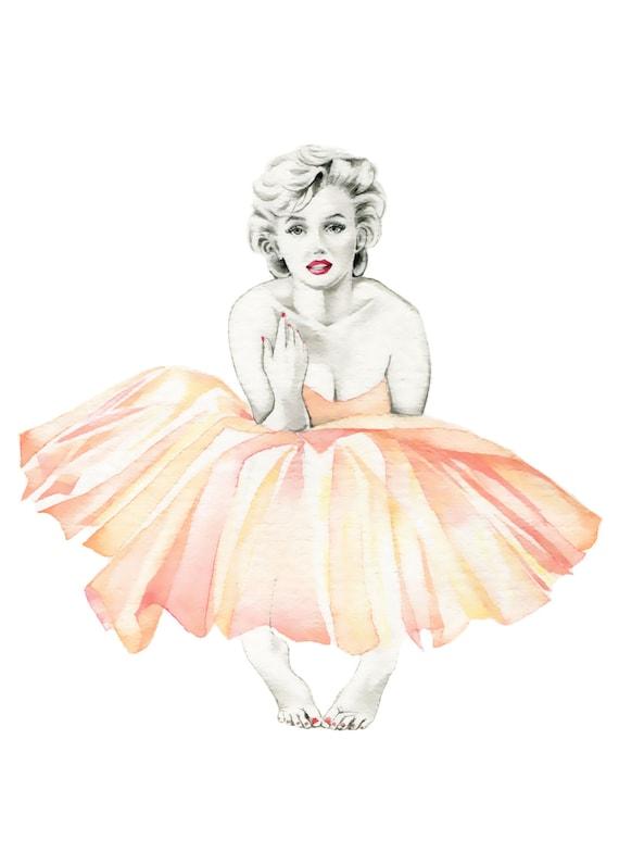 Marilyn Monroe Ballerina PRINT of original by ...