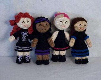 Gothique Girls Amigurumi Dolls