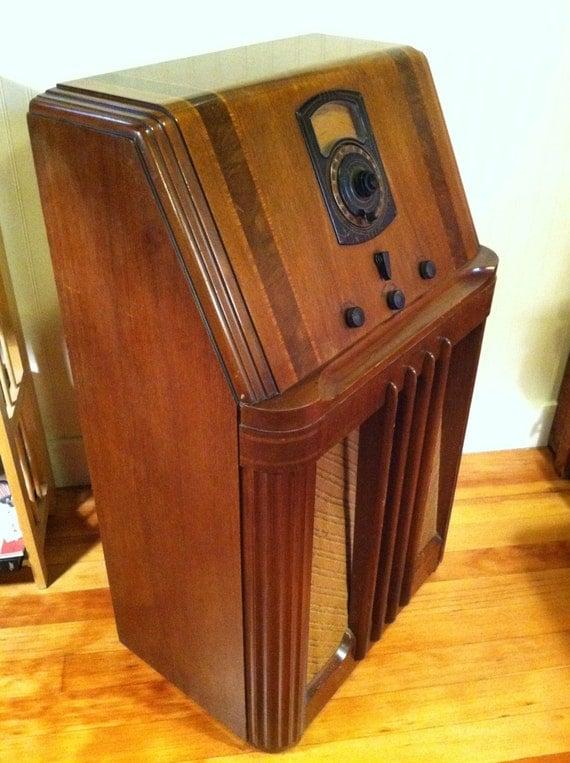 Stunning 1938 Philco Am Shortwave Console Radio By Deco2go