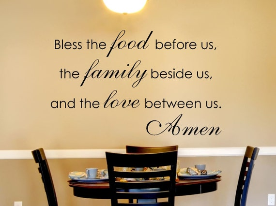 Kitchen Wall Decal Family Wall Decal By Amandasdesigndecals