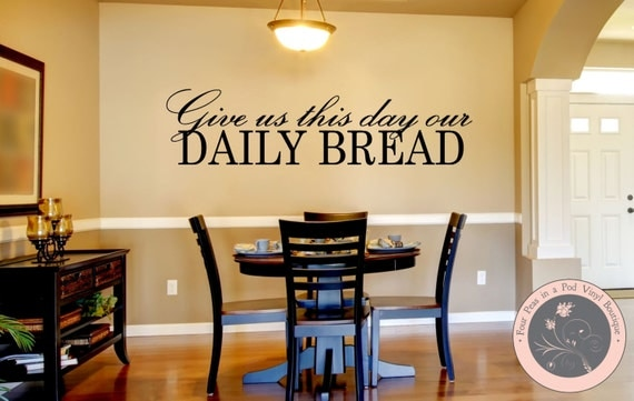Kitchen Decor Kitchen Wall Decal Christian Wall Decal