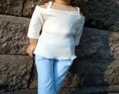 Blue corduroy skirt told