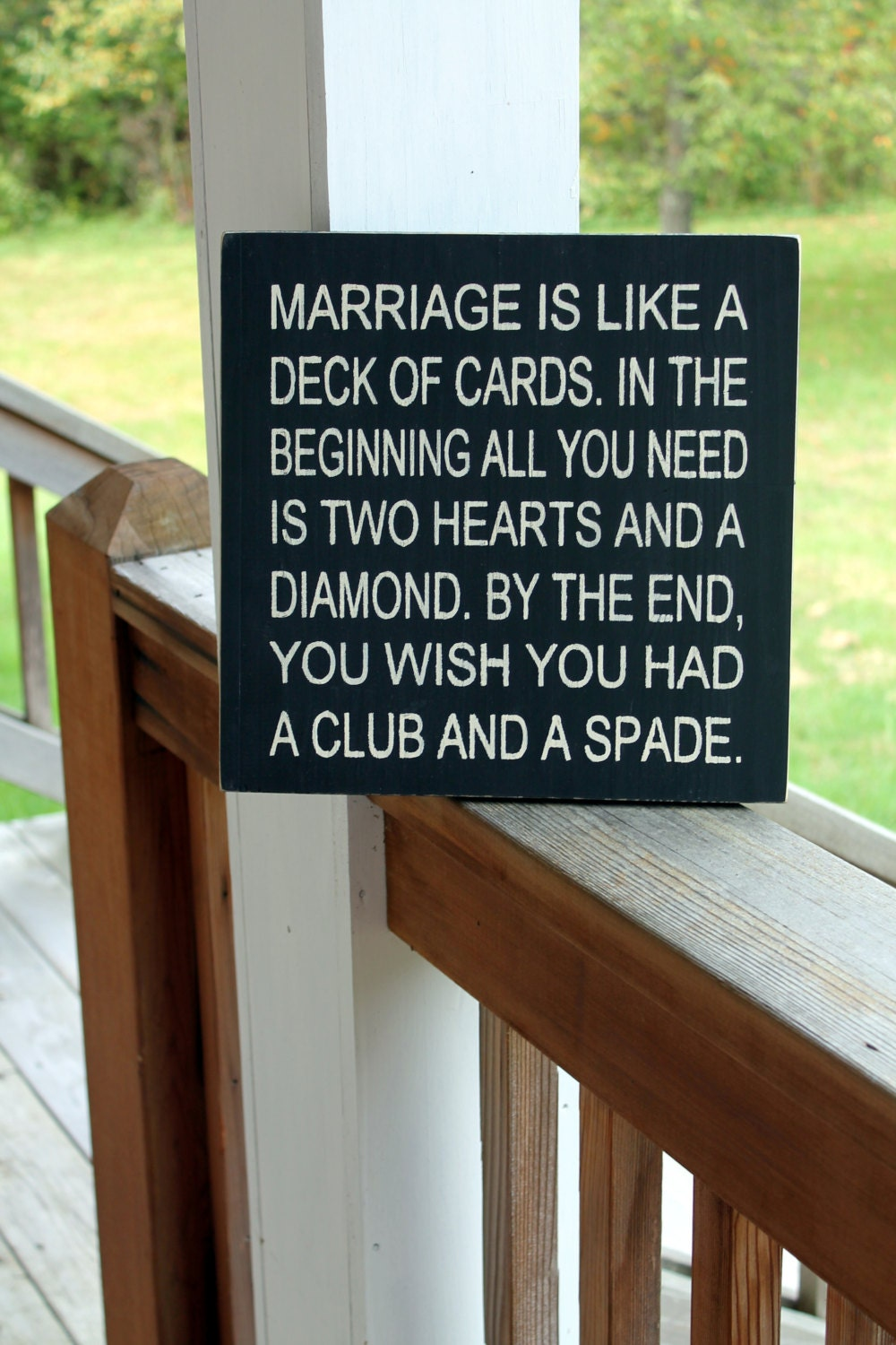 Funny Marriage Wood Sign Funny Quote Sign Marriage Like A