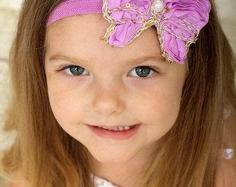 Violet Butterfly Headband, Purple Butterfly, Photo Prop, Baby Headband, Infant Headband, Newborn Headband, Teen Headband, Adult Headband