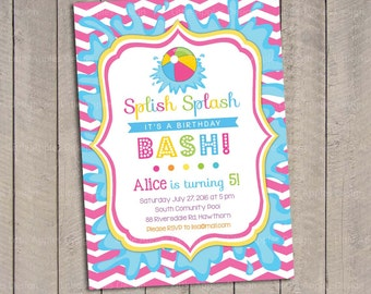 Pool Party Invitation / Kids Pool Party Invitation / Pool Invitation / kids pool party / Pool birthday / Party Digital Printable DIY