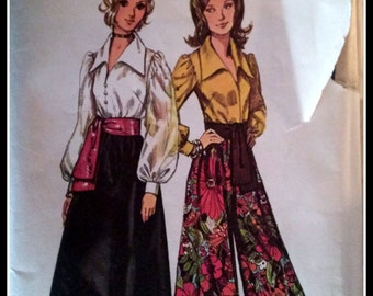 Simplicity  5235   Misses' Blouse, Skirt, PantSkirt And Sash  Size 16