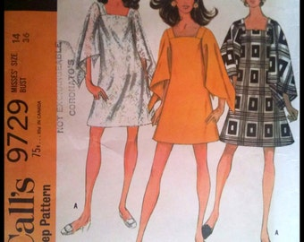 McCall's 9729  Misses' Dress in Two Lengths  Size 14  UNCUT