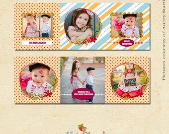 INSTANT DOWNLOAD - 5x5 Accordion card template- CA097