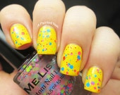 On the Carousel - Neon Glitter Beach Boardwalk Custom Glitter Nail Polish / Lacquer Full Size 15 ml / 0.5 oz Bottle