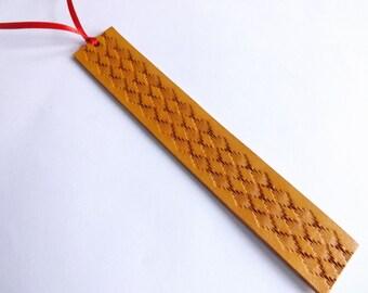 Leather Bookmark - Southwestern