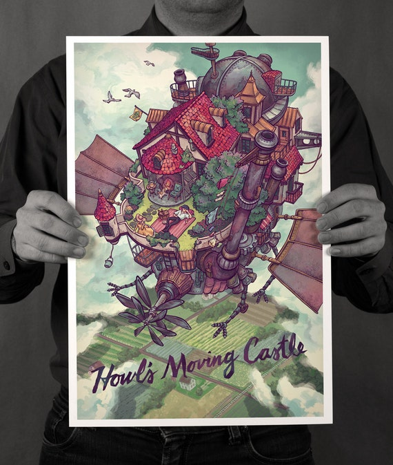 Items Similar To Howl's Moving Castle Poster On Etsy