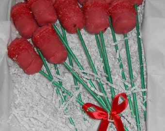 Cake Pop ROSES, chocolate roses, Red, Yellow or Pink, 1 dozen