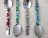 items similar to 4 piece beaded spoon serving set on etsy