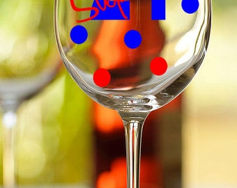 Personalized Birthday wine glass - great birthday present
